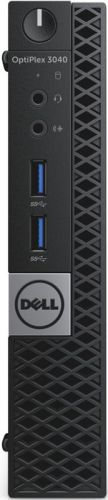 "Компьютер Dell Optiplex 3040 Micro i5-6500T (2.5GHz,QC,6M), 4GB (1x4GB) DDR3L 1600MHz,500GB SATA 7.2k 2.5"" HDD, Intel HD Graphics 530,RW,mse,keyb,Aud (3040-2464)"