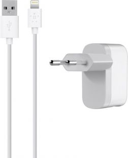 Belkin Home Charger+ (includes lightning connector) F8J100vf04-WHT