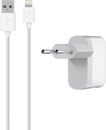 �������� ���������� Belkin Home Charger+ (includes lightning connector) F8J100vf04-WHT ��� iPhone/iPad mini/iPad/iPod Touch 5/iPod Nano 7