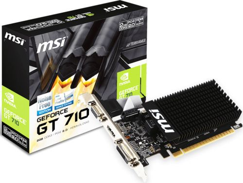 Видеокарта PCI-E MSI GT 710 2GD3H LP GeForce GT 710 Silent Low Profile 2GB GDDR3 64bit 28nm 954/1600MHz DVI(HDCP)/HDMI/VGA RTL (GT 710 2GD3H LP)