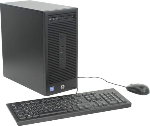 Компьютер HP 280 G2 MT X3K98EA Celeron G3900 (2.8GHz), 4096MB, 500GB, DVD+/-RW, Shared VGA, Windows 7 Professional, клавиатура + мышь