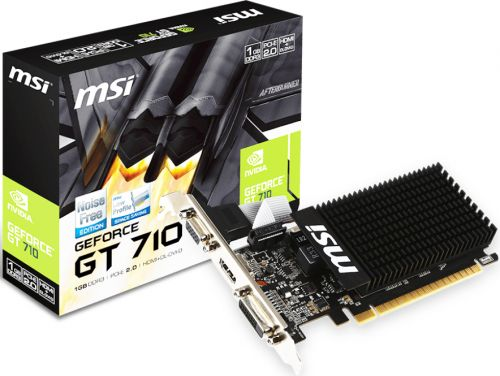 Видеокарта PCI-E MSI GT 710 1GD3H LP GeForce GT 710 Silent Low Profile 1GB GDDR3 64bit 28nm 954/1600MHz DVI(HDCP)/HDMI/VGA RTL (GT 710 1GD3H LP)