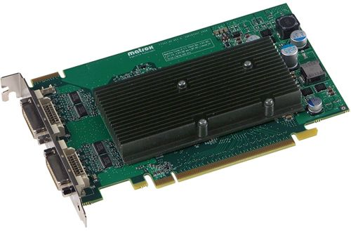 Видеокарта PCI-E Matrox M9125-E512F 512MB GDDR2 2xDVI-I, 2x DVI to Analog (HD15) Adapters RTL