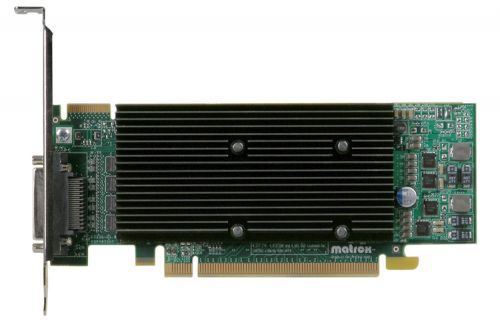 Matrox Видеокарта PCI-E Matrox M9140-E512LAF M9140 LP PCIe x16 512MB DDR2 Low Profile KX-20 to 4xDVI-I cable,4x DVI-HD15,1920x1200, RTL