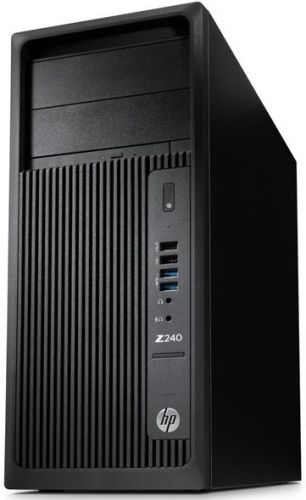 Компьютер HP Z240 MT T4K39ES Xeon E3-1245 v5 (3.5GHz), 8192MB, 1000GB + 8GB SSD, DVD+/-RW, Shared VGA, Windows 10 Professional + Windows 7 Profession (T4K39ES)