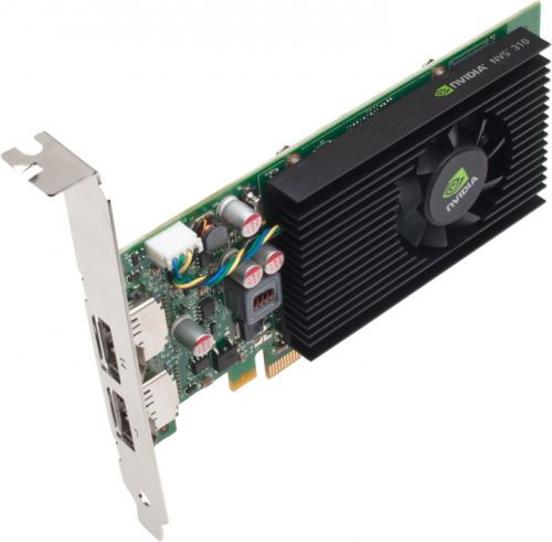 Видеокарта PCI-E PNY NVIDIA NVS 310 1GB GDDR3 64bit 2*DP Low Profile 2*DP to DVI-D Dongle bulk (VCNVS310DVI-1GBBLK-1) (VCNVS310DVI-1GBBLK-1)