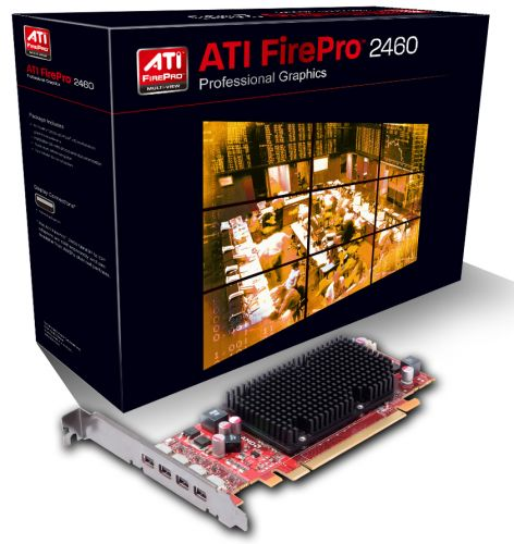 Видеокарта PCI-E AMD FirePro 2460 Low Profile 512Mb PCI-E 16x 2.1 GDDR5 64bit 4xMini DisplayPort Passive RTL (100-505850/100-505969) (100-505850)