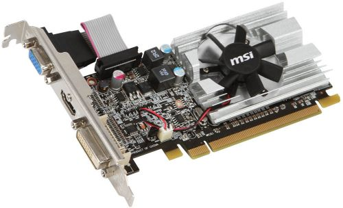 Видеокарта PCI-E MSI R6450-MD1GD3/LP Radeon HD6450 Low Profile 1GB GDDR3 64bit 40nm 625/1333MHz DVI/D-Sub/HDMI RTL (R6450-MD1GD3/LP)