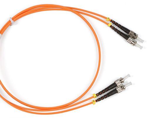 Кабель патч-корд волоконно-оптический Hyperline FC-50-ST-ST-PC-5M FC-D2-50-ST/PR-ST/PR-H-5M-LSZH-OR (шнур) MM 50/125, ST-ST, duplex, LSZH, 5 м