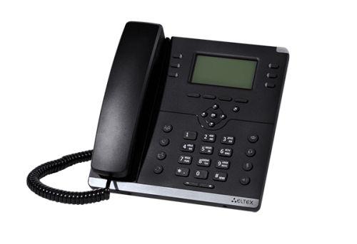 Телефон SIP ELTEX VP-15P 2 SIP аккаунта, 2x100M, ЖК дисплей, PoE