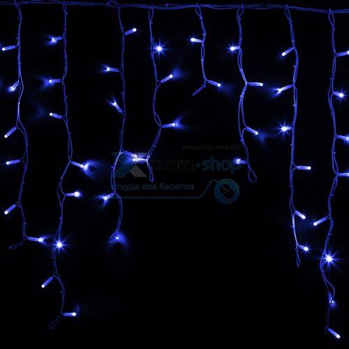 Фото - Гирлянда NEON-NIGHT 255-283 айсикл (бахрома) светодиодный, 5,6 х 0,9 м, белый провод каучук, 230 В, диоды синие, 240 LED гирлянда neon night бахрома айсикл 255 245 560х90 см 240 ламп белый черный провод