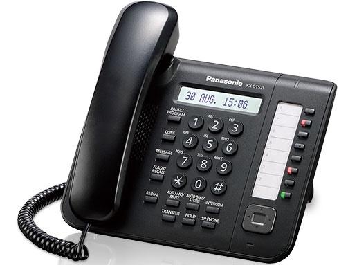 Системный телефон Panasonic KX-DT521RUB для KX-TDA/TDE/NCP (черный)