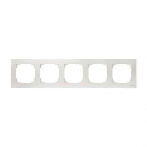 Рамка ABB 2CLA857500A1101 5-постовая, альпийский белый