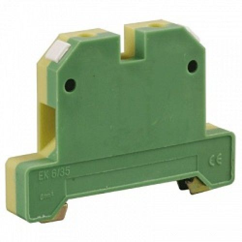 Клемма IEK YZN20-006-K52 ЗНИ-6 мм.кв. ЗЕМЛЯ желто-зеленая