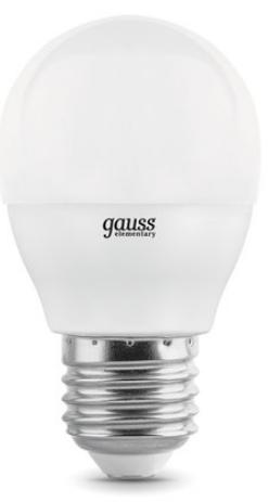 Фото - Лампа светодиодная Gauss 105102207-D LED Globe-dim E27 7W 4100К диммируемая 1/10/100 лампочка gauss e27 шар dim 7w 590lm 4100k 105102207 d