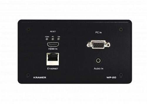 Передатчик Kramer WP-20/EU(B)-86 20-80332190 VGA/HDMI, RS-232 и стерео аудио по витой паре HDBaseT, поддержка 4К60 4:2:0, цвет черный