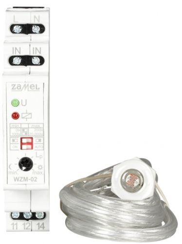 Реле Zamel WZM-02/S1 уровня освещенности, 10А, выбор диапаз. освещённости, с режимом