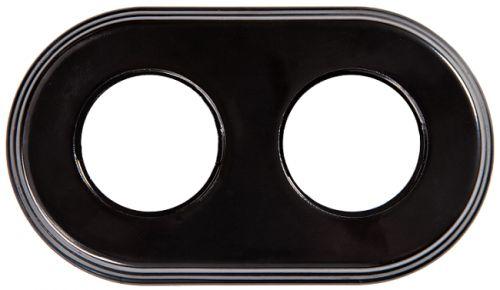 Рамка Bironi BF2-620-03 черная, 2-ая, керамика рамка bironi bf2 630 02 коричневый фарфор 3 я