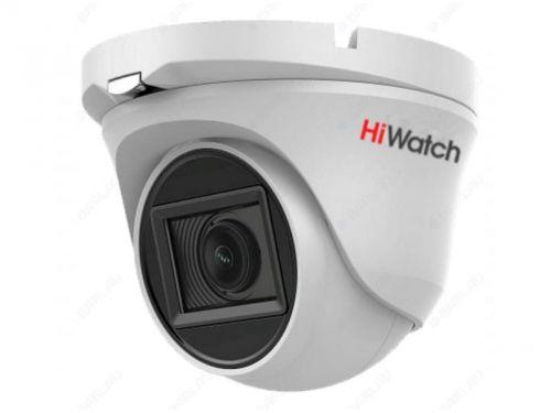 Фото - Видеокамера HiWatch DS-T203A 2Мп уличная купольная HD-TVI с EXIR-подсветкой до 30м и встроенным микрофоном (AoC), объектив 6мм веревка 6мм 30м пп