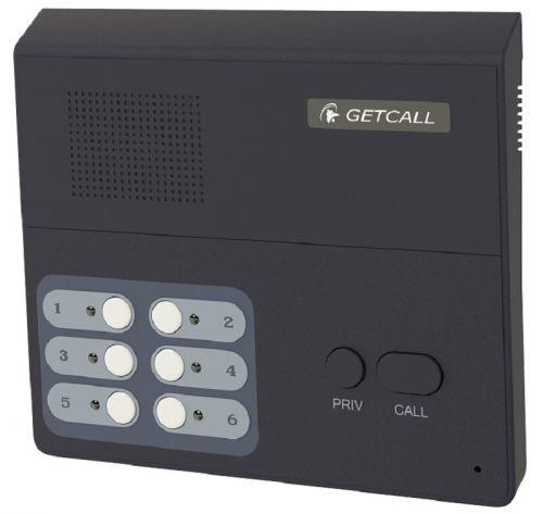 Селектор GETCALL GC-3004D1 (5 аб.) на 5 абонентов с транзитным переключением одного абонента на диспетчерскую, конференция, настольно-настенное крепле