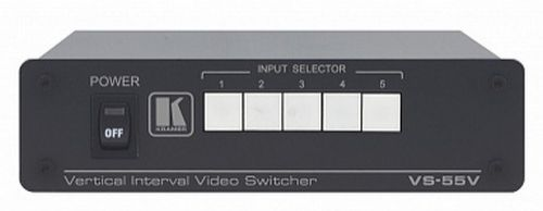 Коммутатор Kramer VS-55V 21-0360090 5х1 композитного видео сигналов, 0.66кг