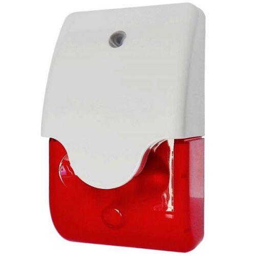 Лампа Smartec ST-AA020LS-RD строб с сиреной, красная, 12 В (DC), 102 db