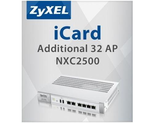 Лицензия ZYXEL LIC-AP-ZZ0006F на увеличение числа управляемых точек доступа (32 AP) для NXC2500