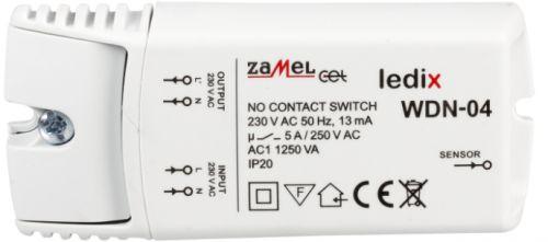 Выключатель Zamel WDN-04 бесконтактный 230V AC, на стену