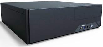 Корпус mATX Powerman EL501BK 6116779 черный 300W (USB 3.0x2, Audio), (EL501BK - 6116779)