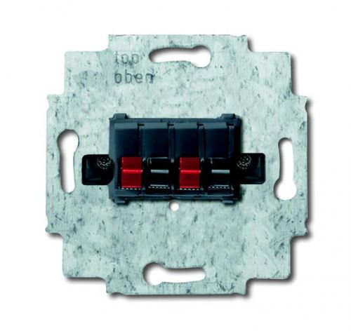 Розетка ABB 0230-0-0404 аудио (механизм) на шурупах, металл, IP20