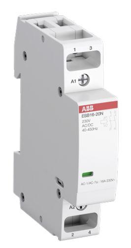 Контактор модульный ABB 1SBE111111R0620 ESB16-20N-06 модульный (16А АС-1, 2НО), катушка 230В AC/DC