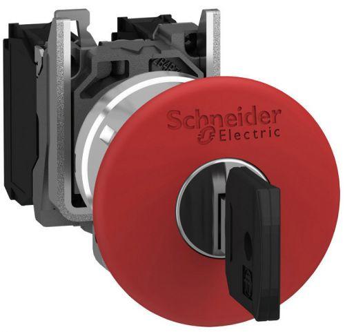 Кнопка Schneider Electric XB4BS9442 аварийной остановки, возв. ключ