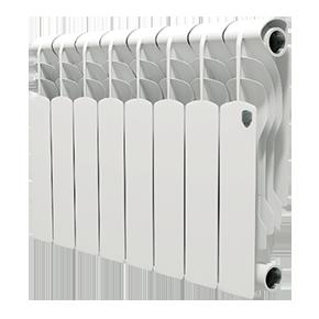 Радиатор отопления алюминиевый Royal Thermo Revolution 350 - 8 секций радиатор секционный алюминиевый royal thermo revolution 350 8 секций