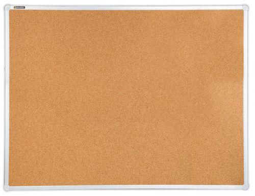 Доска BRAUBERG 236445 пробковая, для объявлений, 90х120 см, алюминиевая рамка