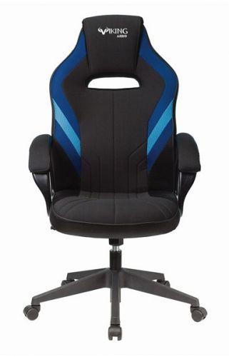 Кресло Бюрократ VIKING 3 AERO черное/синее, искусст.кожа/ткань кресло liyasi руби синее 76x76x78 см