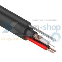 Rexant КВК-П + 2х0,75мм² + ТРОС (7*0,4мм), 305м., черный, OUTDOOR