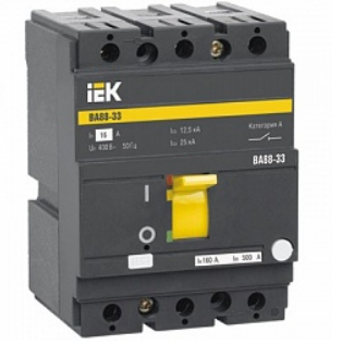 Автоматический выключатель IEK SVA20-3-0160 ВА88-33 3Р 160А 35кА
