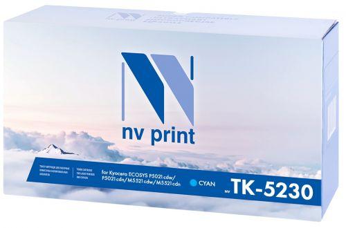 Картридж NVP NV-TK5230C синий, для Kyocera ECOSYS P5021cdw/P5021cdn/M5521cdw/M5521cdn, 2200k