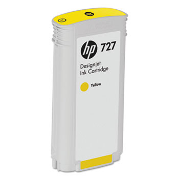 Фото - Картридж HP B3P21A №727 с желтыми чернилами для принтеров Designjet T920/T1500, 130 мл картридж hp 843c c1q68a с желтыми чернилами 400 мл для pagewide xl 5000 4x000