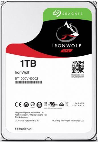 Жесткий диск 1TB SATA 6Gb/s Seagate ST1000VN002 3.5 IronWolf 5900rpm 64MB Bulk жесткий диск seagate ironwolf 3 tb st3000vn007