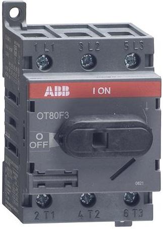 Рубильник ABB 1SCA105798R1001 OT80F3 3п с рукояткой DIN/винт