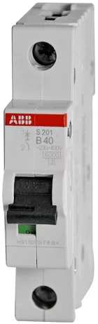 Фото - Автоматический выключатель ABB 2CDS251001R0405 S201 1P 40A (B) 6kA автоматический выключатель abb 2cds251103r0104 s201 1p n 10а с 6ка