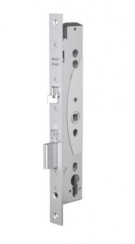 Замок Abloy EL460 (30/24) эл-мех соленоидный, для профильных дверей, выход с управлением от ручки, режимы НО/НЗ, эл-мех12-24VDC, 0,4Amax