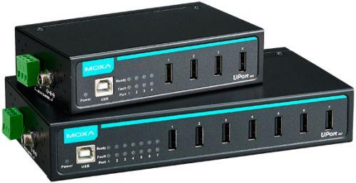 Разветвитель USB 2.0 MOXA UPort 407 7-портовый USB-хаб в металлическом корпусе