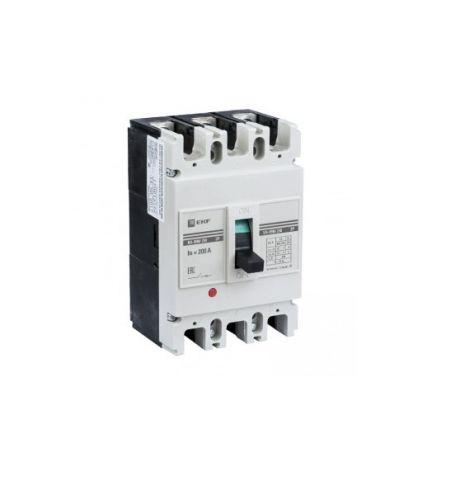 Автоматический выключатель EKF mccb99-250-200m 3п ВА-99М 250/200А 25кА Basic