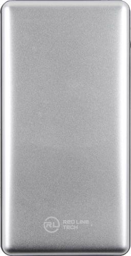 Аккумулятор внешний универсальный Red Line PDP-3А УТ000020090 10000 mAh, 3А, 2USB + Type-C, серебряный