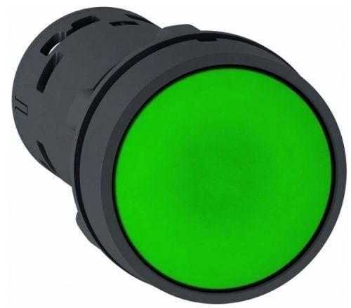 Кнопка Schneider Electric XB7NA33 22мм зеленая с возвратом 2НО переключатель schneider electric xb5ad41 2 позиции с возвратом 22мм черный
