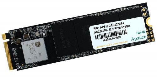 Накопитель SSD M.2 2280 Apacer AP512GAS2280P4-1 AS2280P4 512GB PCIe Gen3x4 with NVMe 3D TLC 2100/1500MB/s IOPS 210K/380K MTBF 1.5M RTL