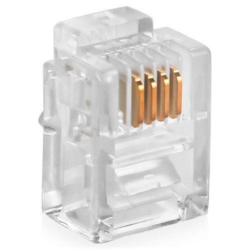 Коннектор SUPRLAN 10-0229 4P4C (RJ-11) уп. 100шт коннектор rj 12 6p4c 100шт proconnect 05 1012 3