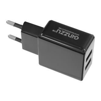 Фото - Зарядное устройство сетевое Ginzzu GA-3312UB 3,1A, 5V, 2xUSB, для зарядки мобильных устройств, микроUSB 1.0м, черный сетевое зарядное устройство deppa 2xusb 3 4a черный 11385
